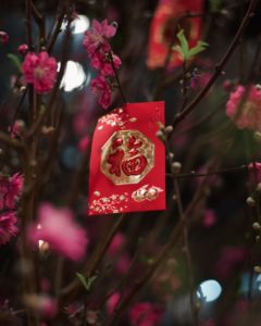red packet hanging on tree