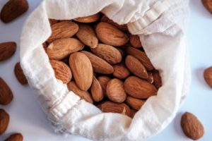 raw almonds in a bag